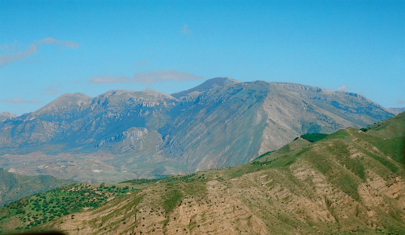 The mountains in central Sicily