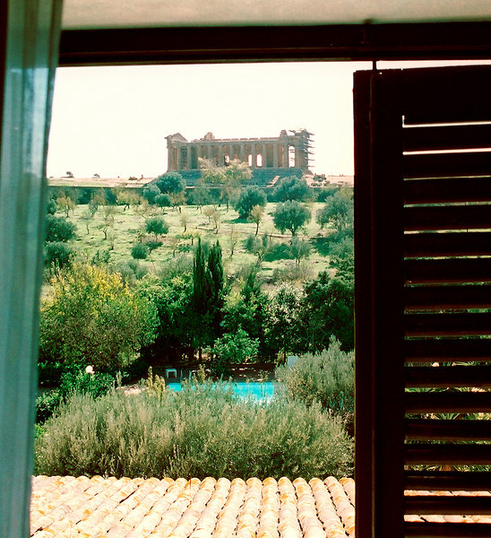 Valley of the Temples, Agrigento.  From my hotel room