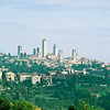 San Gimignano skyline from my B&B