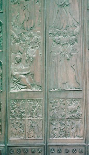 The door to the Duomo in Siena