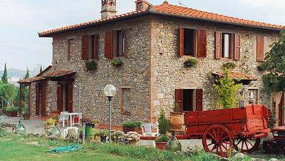 Farm house San Gimignano, Tuscany Front of farm house. Casanova di Pescille