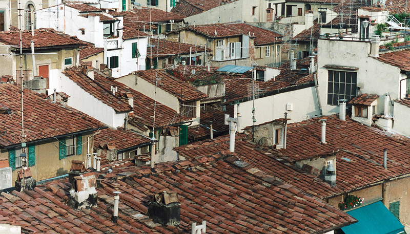 Tuscany roof tops as seen from the top of the Duomo Bell tower