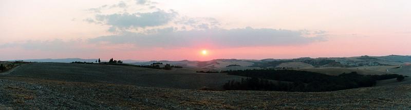 Sunset Tuscany panorama