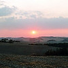 Sunset Tuscany panorama