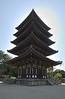 Nara - Five Story Pagoda at Kofukuji Temple.