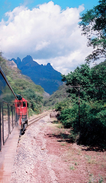 El Chepe, the train that does from the Seashore to 9000 ft at Copper Canyon