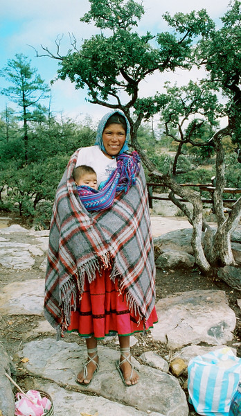Tarahumana Indians that live in Copper Canyon.