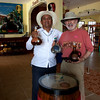 Tasting Tequila at the Hacienda Antigua Factory Store.