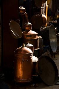Fes - Copper pots