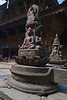 Kathmandu - Durbar Square - Stone Buddha Statues.