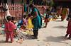 Kathmandu - Durbar Square - Street market for veggies.