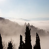 Morning fog covers Barga.