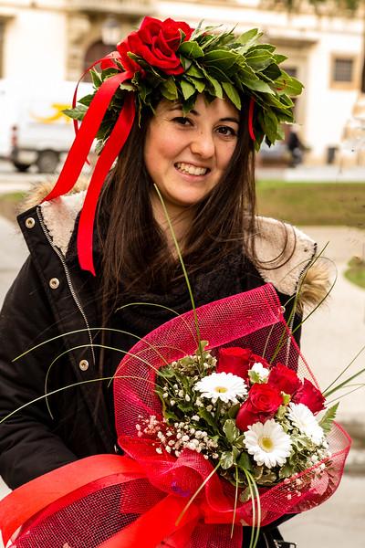 Graduation Girl in Pisa