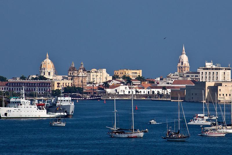 Cartagena, Columbia;Harbor; Old city
