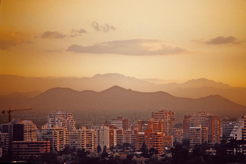 Sunset in Sao Paulo, Brazil