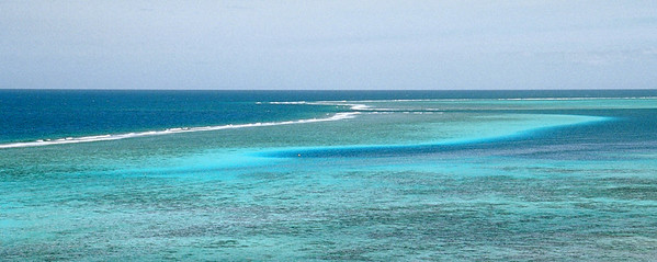 Blue waters of the South Pacific