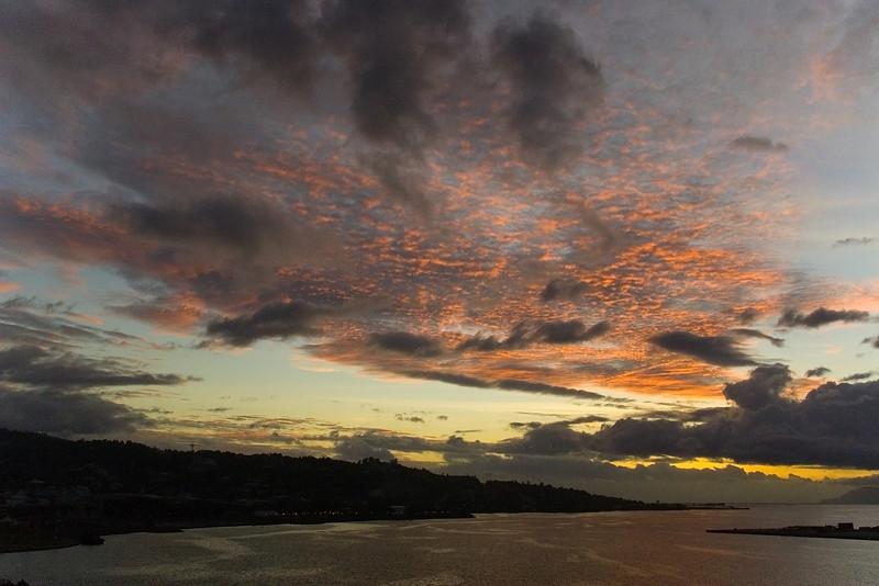 Sunset Papeette tahiti French Polynesia