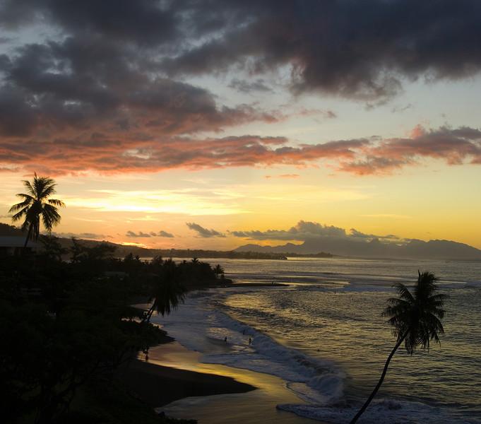 Last night in Tahiti French Polynesia