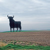 Huge bull billboard on highway between Madrid and Salamanca! (I like to call it a 'bullboard!') You can see from miles away!