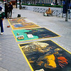 Street paintings in Madrid