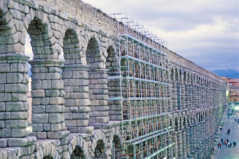 The Roman Aquaduct in Segovia