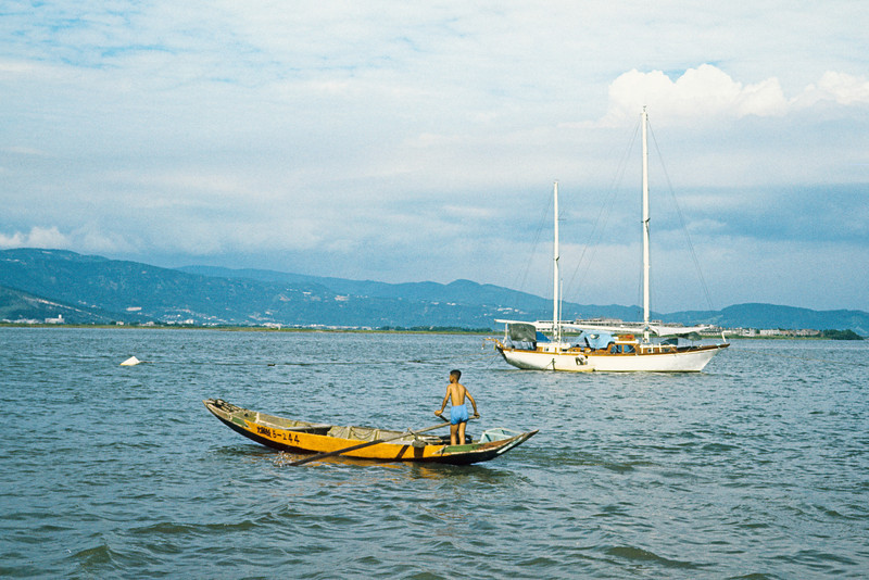 A person I knew had this sail boat built in Taiwan and plans to sail it to the USA.