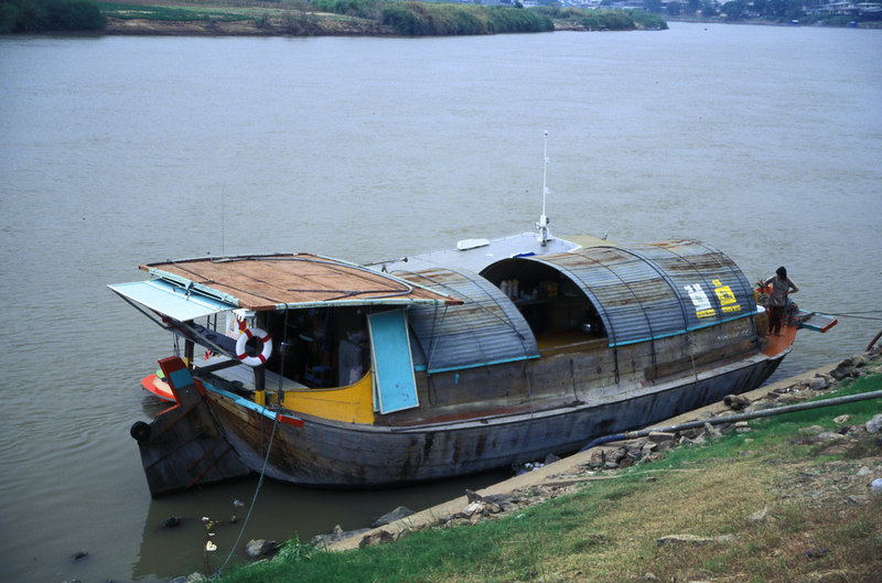 Our Rice Barge transport for the trip down the Chao Phraya River