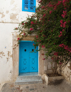 Sidi Bou Said - A typical blue door in the village.