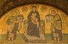 Istanbul - Haghia Sophia - Mosaic of Virgin Mary with Constantine & Justinian.