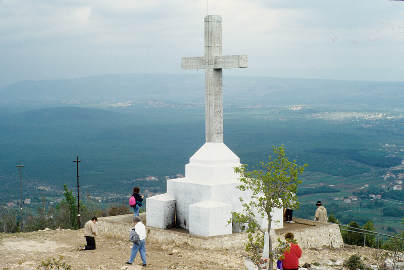 The top of Mt. Krizevac