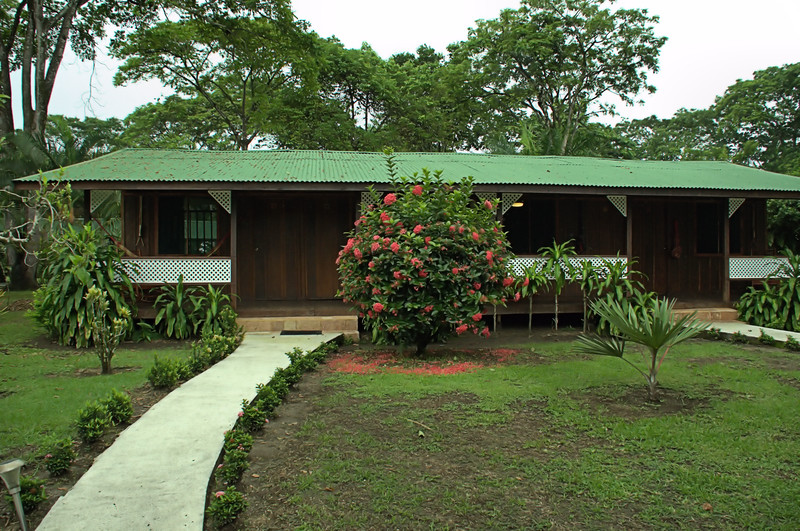 The Mawamba Lodge buildings consisted of 4 rooms. Our room, #6, was second from the left. All porches had a hammock and a rocking chair.