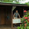 Scott in front of our room at the Mawamba Lodge