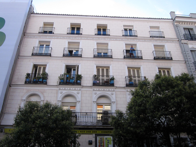 My window at Hostal Victoria is the open one, 2nd floor, second from left.
