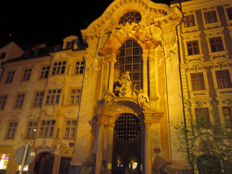 The Asamkirche at night