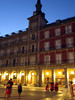 The Plaza Mayor at night-five minutes from Hostal Victoria