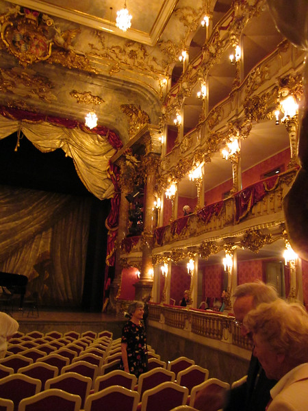 First evening--to a chamber concert in the Cuvilliés Theater