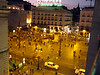 Night view from my window onto Puerta del Sol