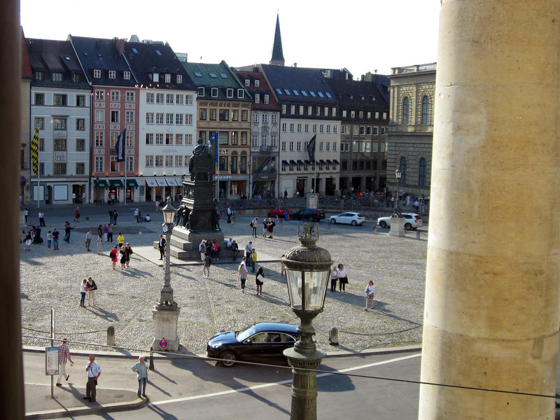 The view out on to the Opera Platz