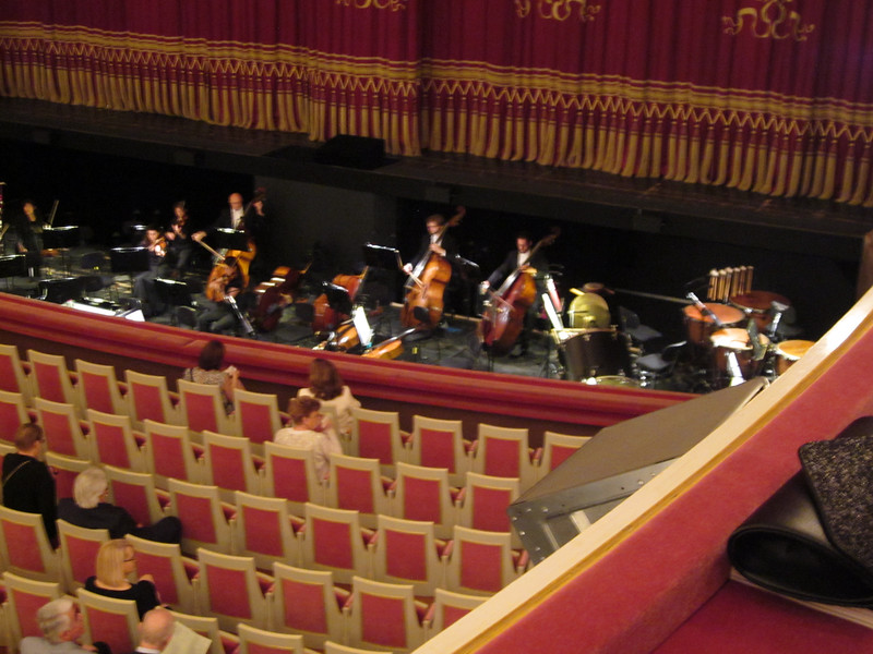 The orchestra gets ready