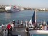 Le Lyrial departs Piraeus, the harbor for Athens -- late afternoon