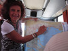 Sept 20 -First day's tour to Volos and monasteries at Meteora--our local guide on bus ride
