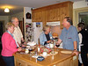 The big Oberlin reunion begins at the Seamans':--Maggie, Murf, Sue, Joe (Nina hiding in back)