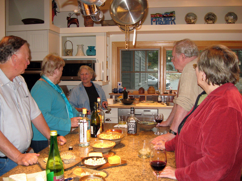 Still in the kitchen, Joe, Maggie, Sue, Murf, Nina