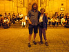 I pose with Nathan first evening in San Sebastian