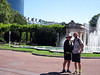One day we go by bus to Bilbao--Grace and Nathan on our walk through a large city park to the famed Museo Guggenheim