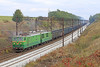 ET42-011-A,Hauls a Long Loaded Coal Train Passed Tarnowskie Gory on Thurs,3rd Oct 2013.