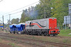 A Smart Looking SM31-010 Shunts A Couple of Loaded Ballest Wagons Into The Small Yard Along Side Gliwice Station on Tues,1st Oct 2013.