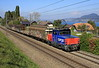 923 017 heads passed Langmaad with a short freight on a glourious sunny Wed,12th Oct 2016.