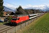 460 117 Heads Away From Spiez with a North Bound Express on Tuesday 24th March 2015.