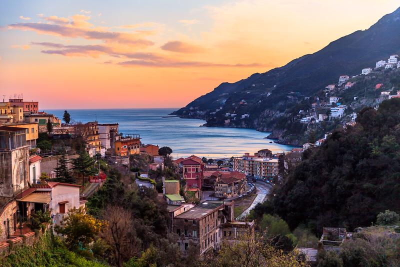 Sunset over the Italian Coast